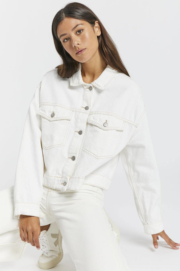 Khalila Cropped Jacket - Light Ecru - Dr Denim Jeans - Australia & NZ