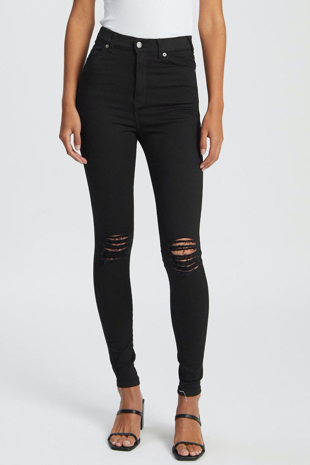 Moxy Jeans Black Ripped Knees