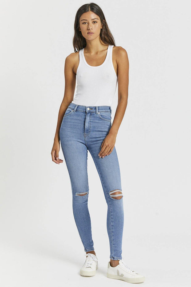 Moxy Jeans - West Coast Light Blue Ripped Knees - Dr Denim Jeans - Australia & NZ