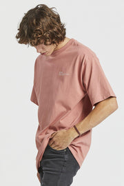Nixon Tee - Terracotta VT Wordmark - Dr Denim Jeans - Australia & NZ