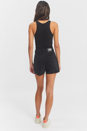 Nora Shorts Black Retro