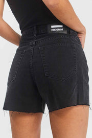 Nora Shorts Black Retro | Dr Denim Jeans Australia
