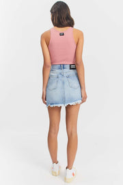 Sara Skirt Destiny Light Blue Ripped - Dr Denim Jeans - Australia & NZ