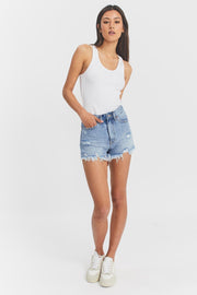 Skye Shorts Destiny Light Blue Ripped | Dr Denim Jeans Australia