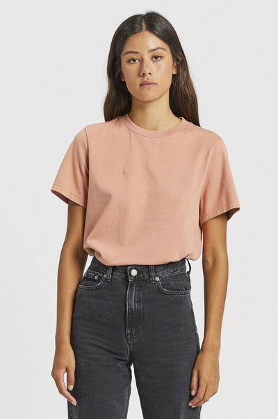Tasya Tee - Washed Terracotta - Dr Denim Jeans - Australia & NZ