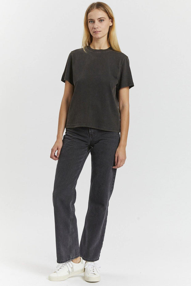Tasya Tee - Washed Black - Dr Denim Jeans - Australia & NZ