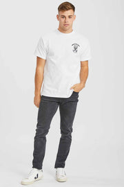 Trooper Tee White Log Out - Dr Denim Jeans - Australia & NZ