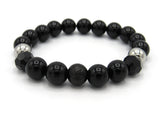 Brync Black Onyx  Men Women Beaded Bracelet