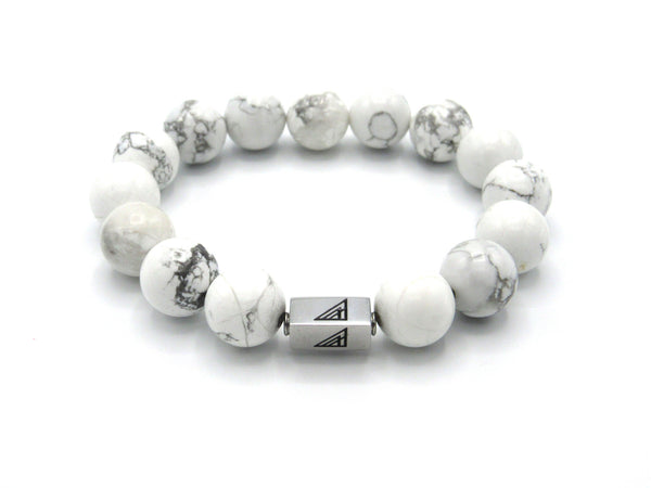 White howlite beaded bracelet Brync men and women
