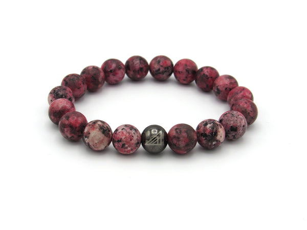 Black pink  Men Women Beaded Bracelet Valentines Day
