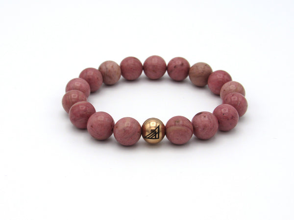Brync Pink Valentines Day Men Women Beaded Bracelet Rose Gold