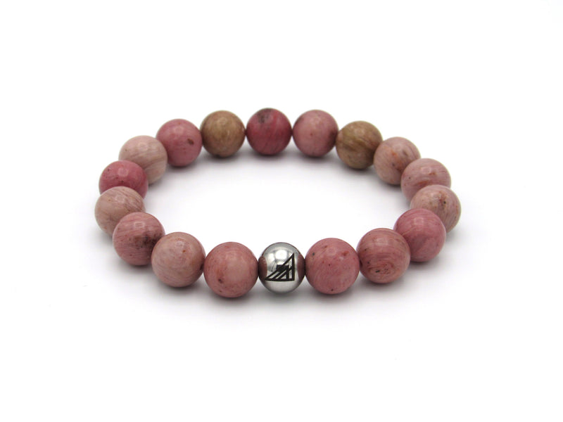 Brync Pink Men Women Beaded Bracelet Valentines Day