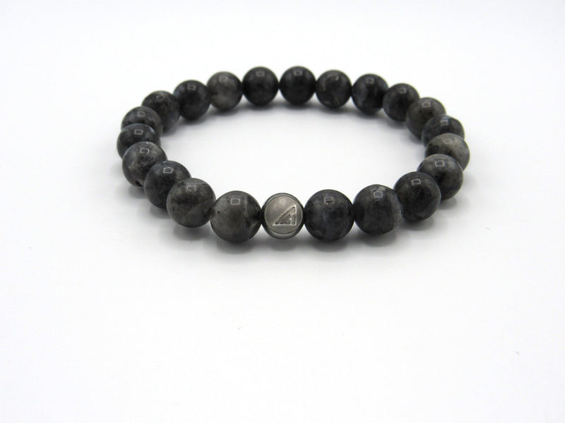 Brync Grey Men Women Beaded Bracelet Necklace Handmade