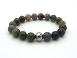 Brync burgundy green blue orange gold natural Men Women Beaded necklace