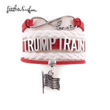 "Load image into Gallery viewer, Donald Trump Supporters - ""TRUMP TRAIN"" Bracelet (women/men)"