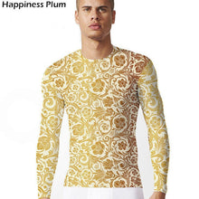 Load image into Gallery viewer, Men's Flower Shirt Long Sleeve Tshirt Streetwear