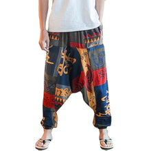 Load image into Gallery viewer, Unisex Loose Casual Drop Crotch Floral Pants