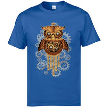 Load image into Gallery viewer, Steampunk Owl Machine T-Shirt