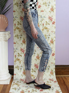 Acid Wash Cut Out Jeans 24x26