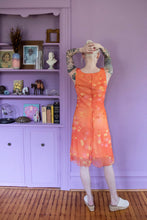 Load image into Gallery viewer, Y2K Orange Chiffon Double Layer Dress
