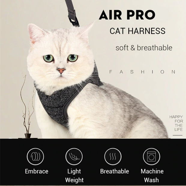 Escape Proof Cat Vest Harness and Leash-02