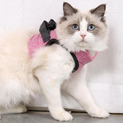 Escape Proof Cat Vest Harness and Leash-Pink-04