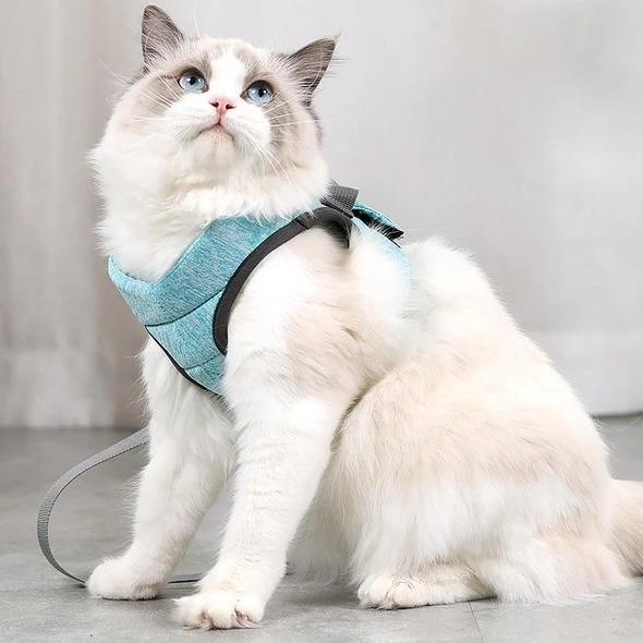 Escape Proof Cat Vest Harness and Leash-Green-05