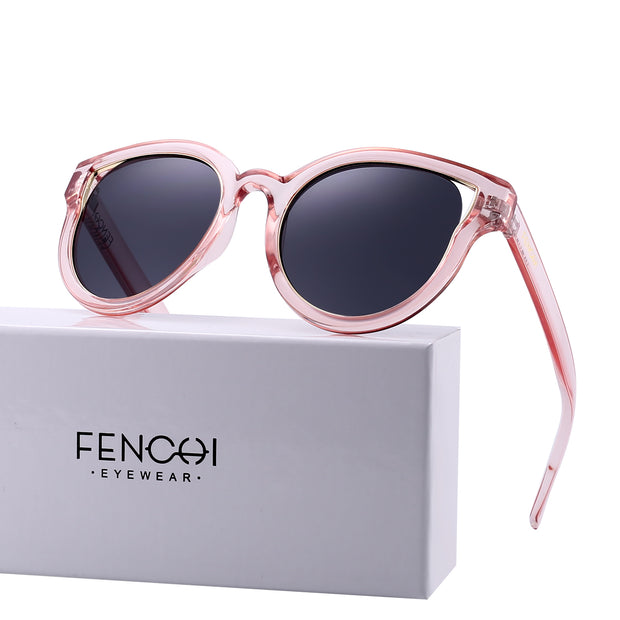 Fashion Oversized Sunglasses Transparent Frame 99% UV Protection