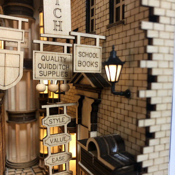 Harry Potter Diagon Alley DIY Book Shelf