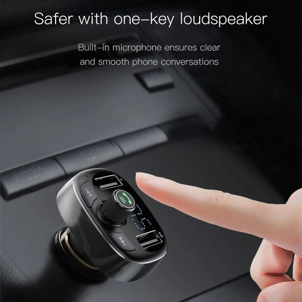 5 in 1 Bluetooth Transmitter Car Charger