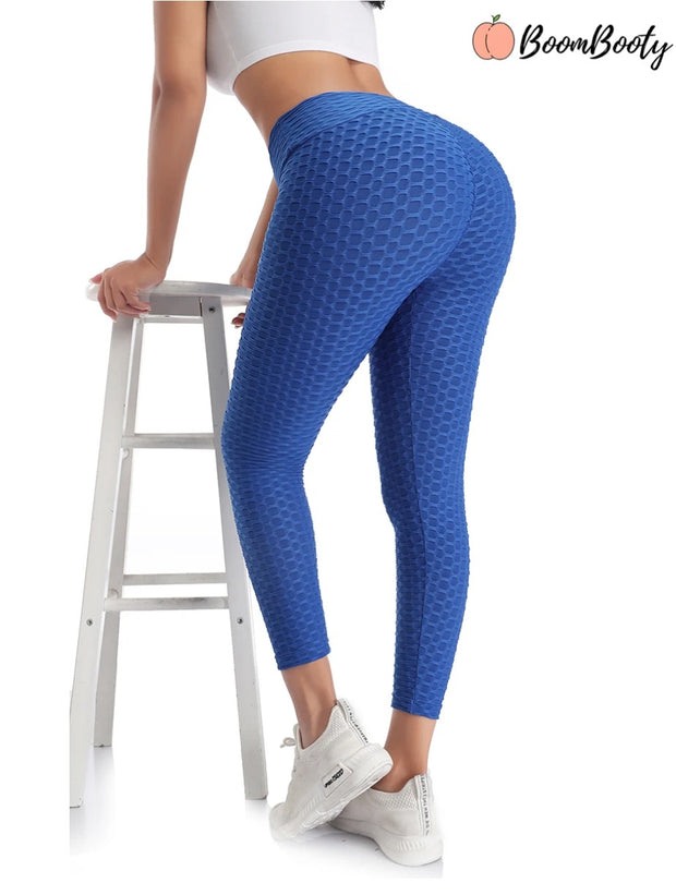 Anti-Cellulite High Waisted Textured Leggings