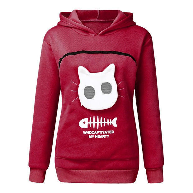 Pet Pouch Hoodies Sweatshirt