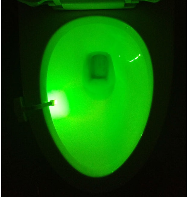 LED Human Sensor Activated Toilet Night Light