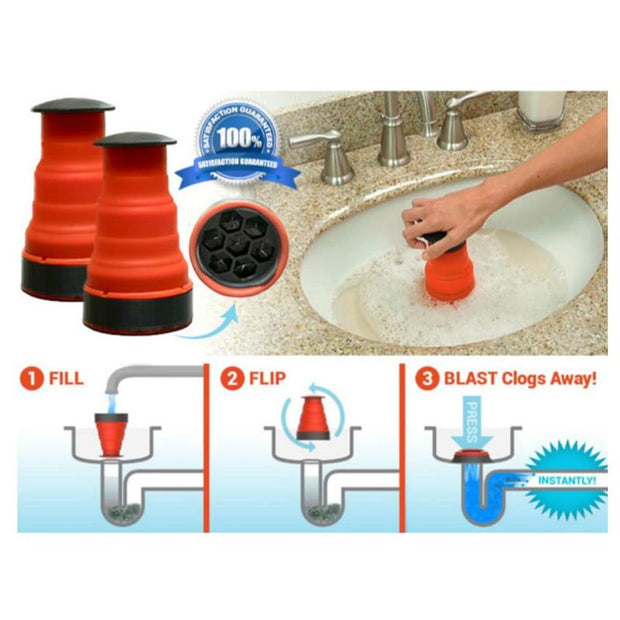 Sink Plunger Clean Clog Cannon Cleaner Pump Tools