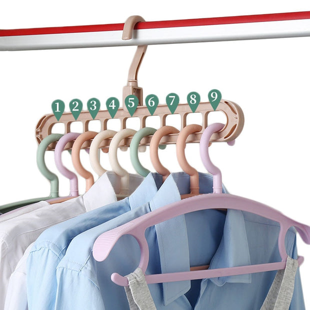 Magic Multi-port Support Circle Clothes Hanger