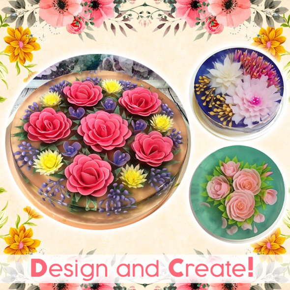 3D Jelly Flower Art Kit