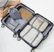 7 PCs Travel Storage Bag Set For Tidy Clothes