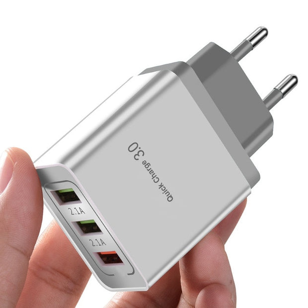 Quick Charging QC 3.0 Smart 3 USB Wall Charger