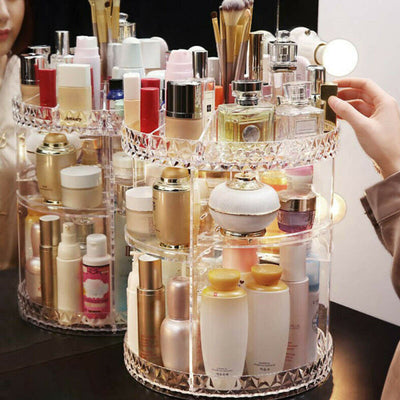 Rotation Transparent Storage Makeup  Organizer
