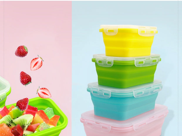 Silicone Collapsible Lunch Box