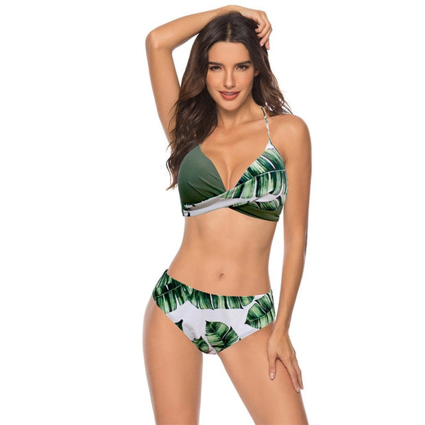 Fresh Leaves Bikini Swimsuit