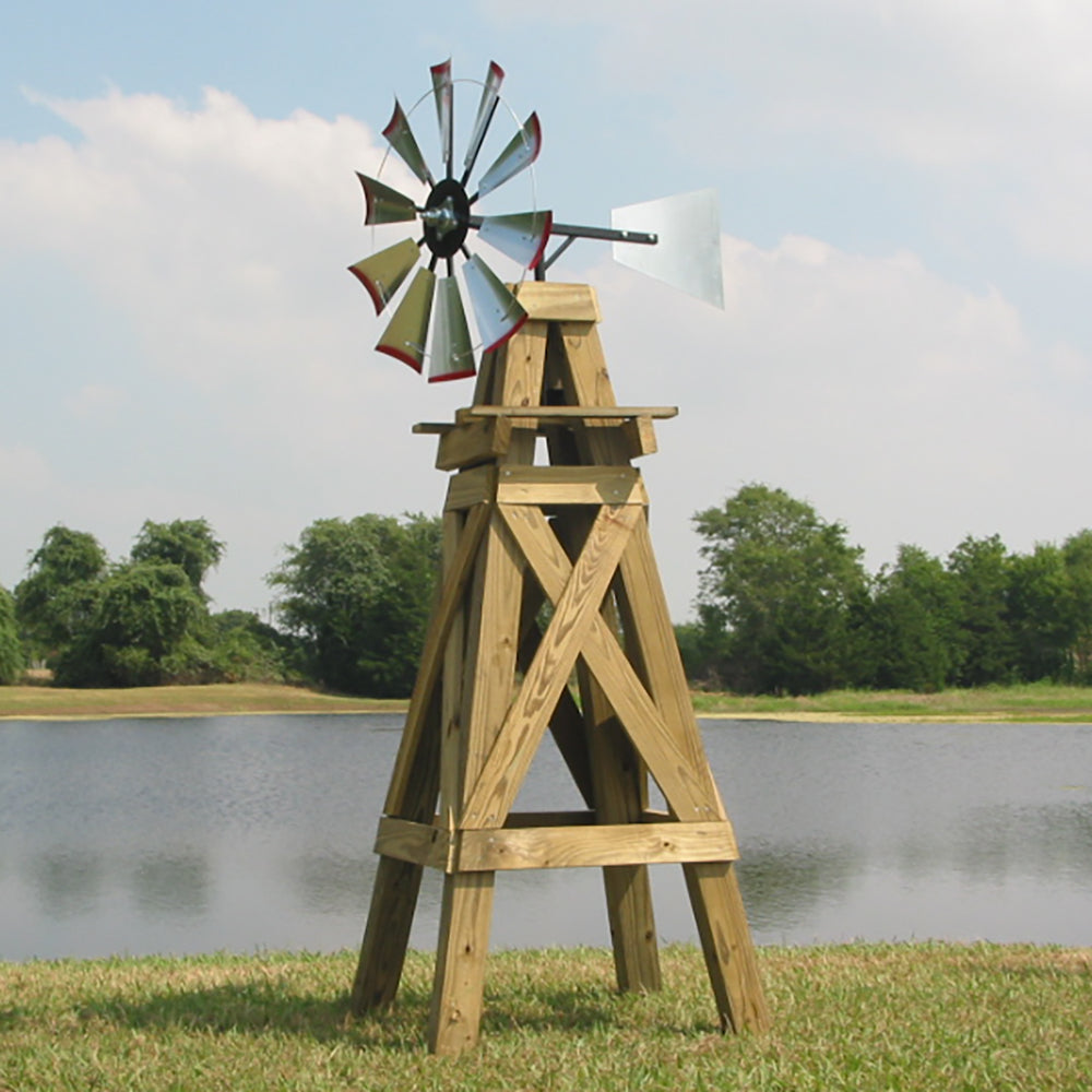 8' Windmill (plain rudder and wood stand)