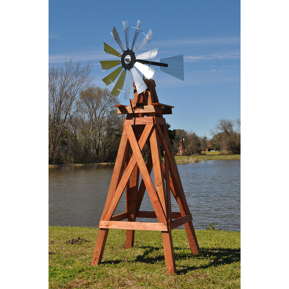 11' Windmill (plain rudder and wood stand)