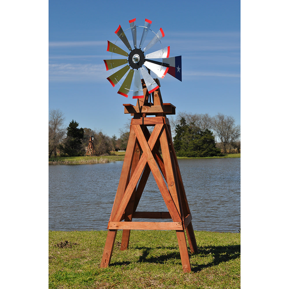 11' Windmill (Texas flag rudder and wood stand)