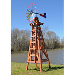 15' Windmill (Texas flag rudder and wood stand)