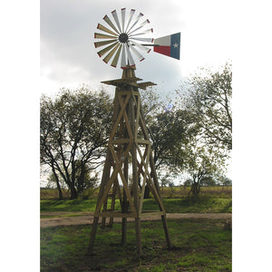 20' Windmill (Texas flag rudder and wood stand)