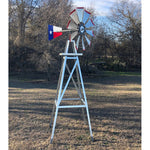 8' Windmill (Texas flag rudder and metal stand)
