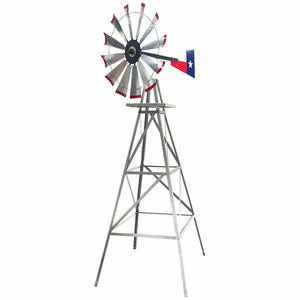 11' Windmill (Texas flag rudder and metal stand)
