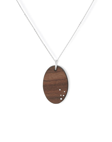 Wood Necklace - 5 Year Anniversary Gift for Wife - Wood Jewelry - Liel and Lentz