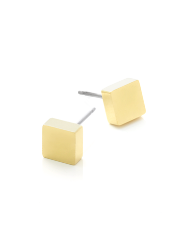 SQUARE STUD | Gold